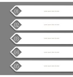 Modern white Design template vector image vector image