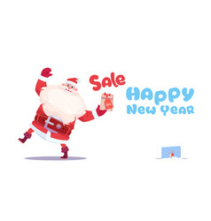 new year sale banner holiday discounts promotion vector image