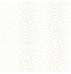 seamless geometric golden line pattern vector image vector image