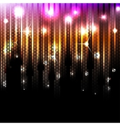 abstract glowing disco background vector image