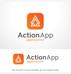action app logo template design vector image vector image