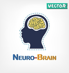 Brain Neurological symbol vector image vector image