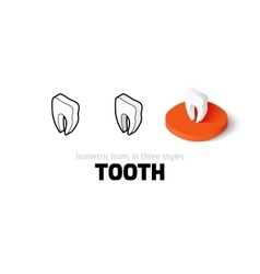 Tooth icon in different style vector image vector image