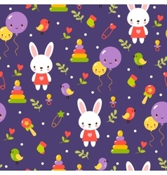 Cute baby pattern design vector image
