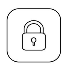 figure symbol lock icon vector image