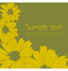 flower back vs vector image vector image