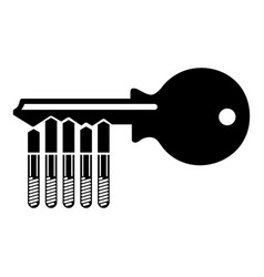 magnetic key icon simple style vector image