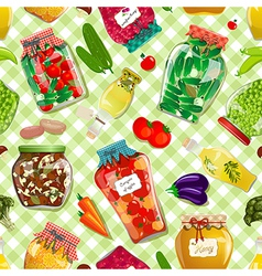 seamless texture with preserve food vector image vector image