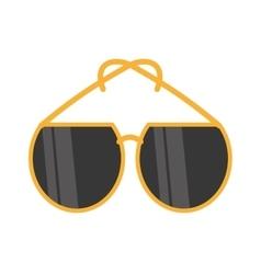 Yellow sunglasses fashionable beach vector