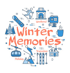 blue winter memories concept vector image vector image