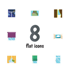 Flat icon frame set of glazing glass clean and vector