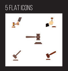 flat icon lawyer set of law justice crime and vector image vector image