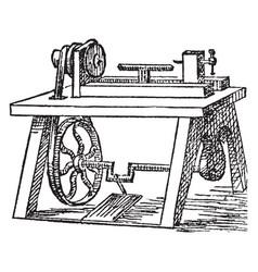 lathe vintage vector image vector image