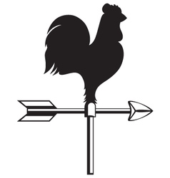 Rooster weather vane vector image