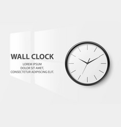 3d realistic simple round black wall office vector image