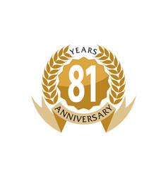 81 years ribbon anniversary vector