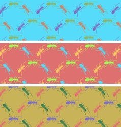 Ants color seamless pattern vector