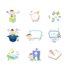 back to school set education set vector image