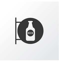beer sign icon symbol premium quality isolated vector image
