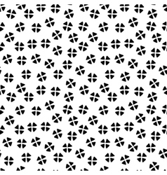 black and white chaotic floral ethnic geometric vector image