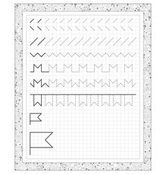 Black and white worksheet on a square paper vector