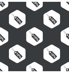 Black hexagon discount pattern vector image