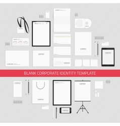 Blank corporate identity template vector image