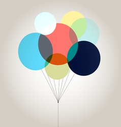 Bright colored balloons vector