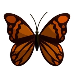Brown butterfly icon cartoon style vector image