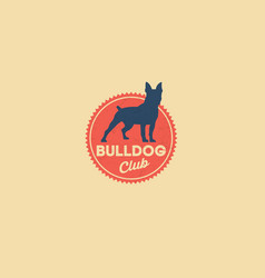 bulldog logo kennel club vector image