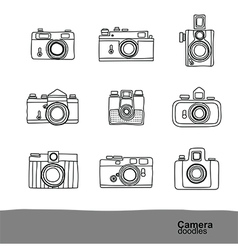 camera doodles 2 vector image