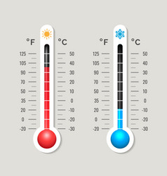 climate thermometer outdoor weather meter vector image