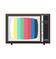 colorful soviet tv set vector image