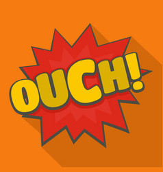 comic boom ouch icon flat style vector image