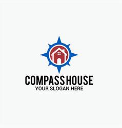 Compass house logo vector