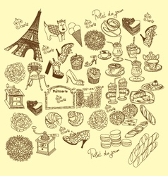 doodle france vector image