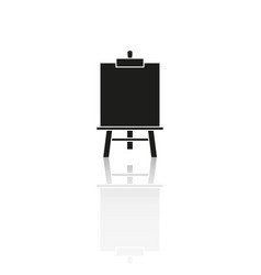 easel art reflection icon vector image