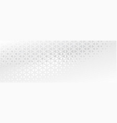 Elegant subtle triangle shapes abstract banner vector