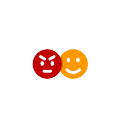 emoticon social network logo icon design vector image