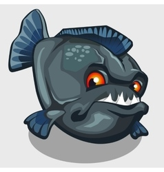 Evil piranha with sharp teeth isolated vector image
