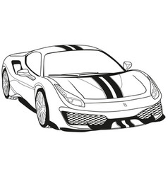 Ferrari 488 pista vector