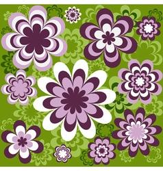 Flower seamless wallpaper vector