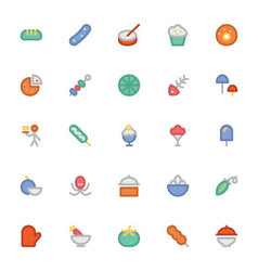 Food Colored Icons 12 vector image