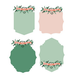 frame set with floral ornament in colorful vector image