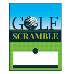 golf tournament scramble flyer vector image