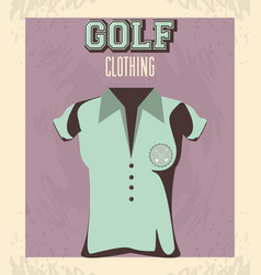 Golf uniform femenine shirt vector