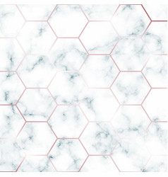 Green marble design template with hexagonal rose vector