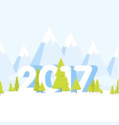 Happy new year landscape concept cartoon vector
