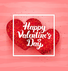 happy valentines day sale postcard vector image