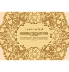 Invitation card boho vector